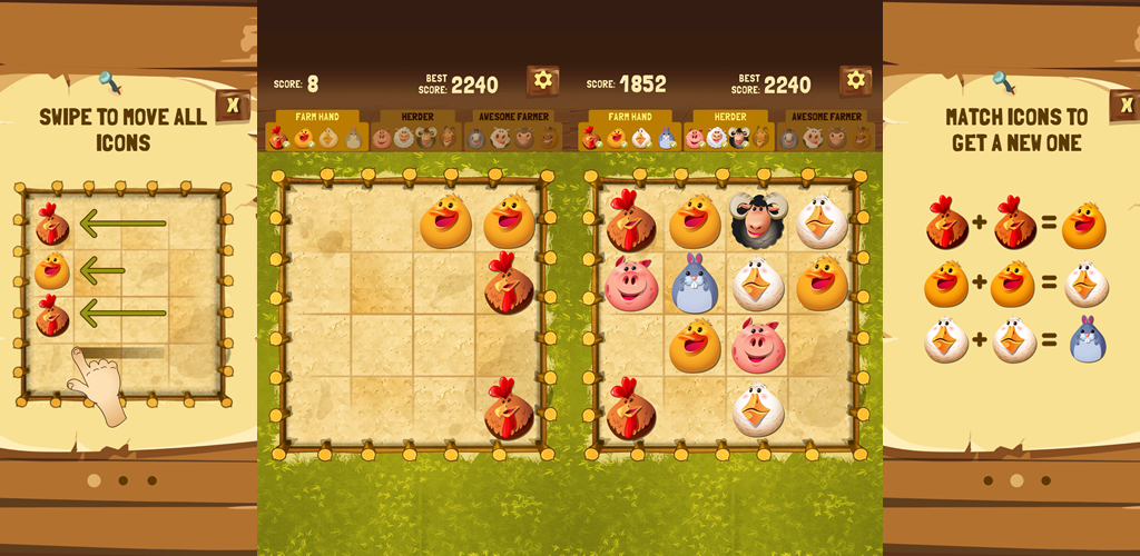 Best Herd Ever – 2048 genre game with funny farm animals