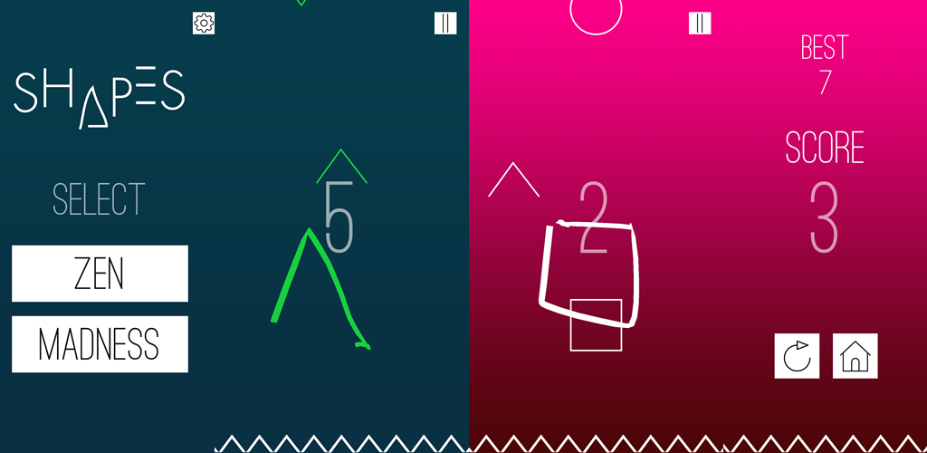 Shapes – fast draw falling shapes with your finger