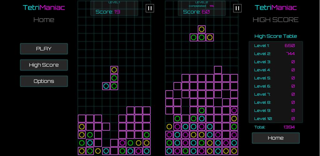 Tetri Maniac – fun & innovative combination of block matching with match three colors games